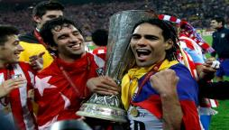 Falcao festeggia l'Europa League 2012 a Bucarest!