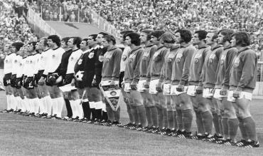 Germania Ovest e Germania Est in campo ai Mondiali del 1974